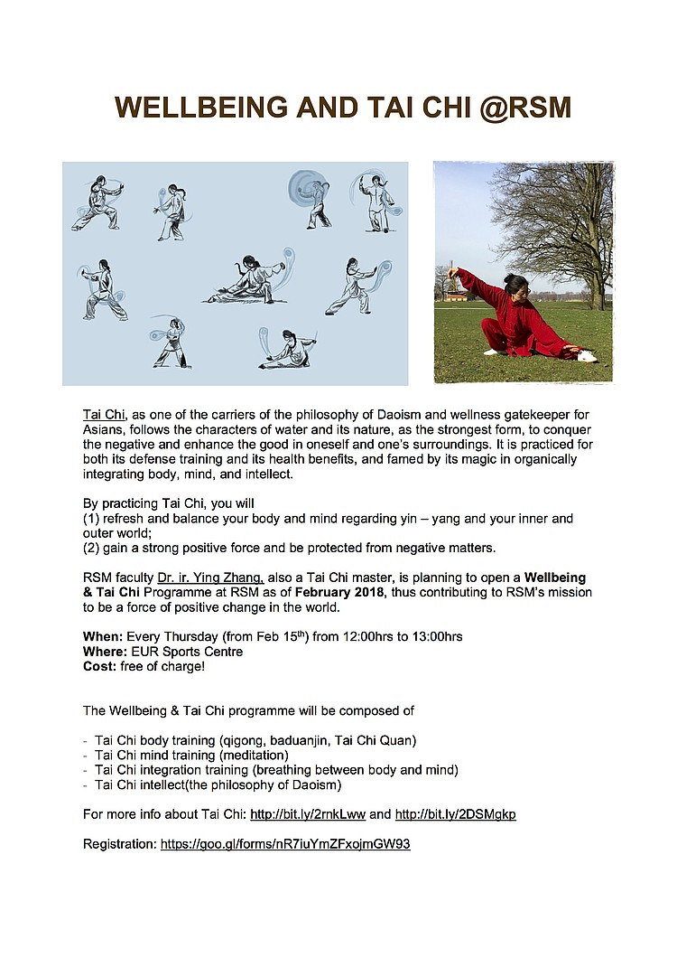 Tai Chi and Wellbeing Program - Education - What we offer
